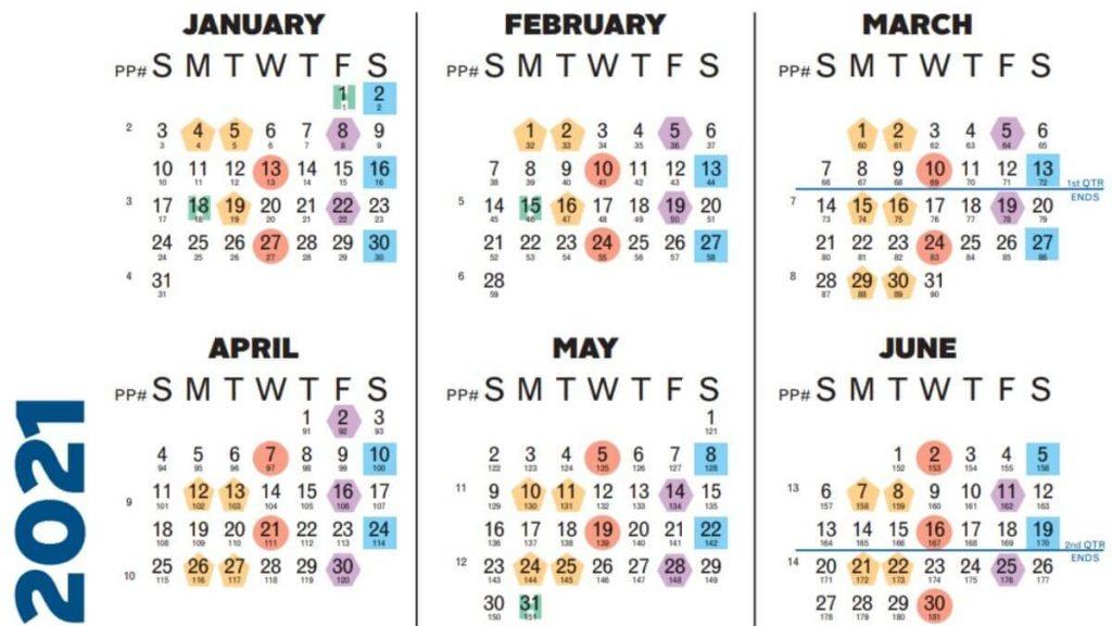Chick-Fil-A Pay Schedule Calendar 2021
